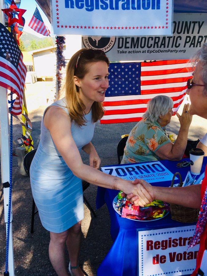 US Senate Candidate Trish Zornio (CO) meets voters (@trish_zornio)